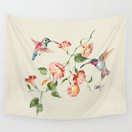 hummingbirds & morning glories Wall Tapestry