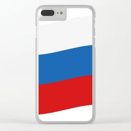 Russia flag Clear iPhone Case