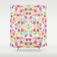 rush Shower Curtains featuring Sugar Rush by Ornaart