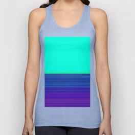 Re-Created Color Field and Stripes 9 by Robert S. Lee Unisex Tank Top