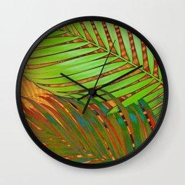 TROPICAL LEAVES POP-ART no5 Wall Clock