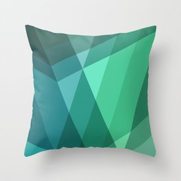 Fig. 046 Mint, Sea Green, Blue & Teal Geometric Throw Pillow