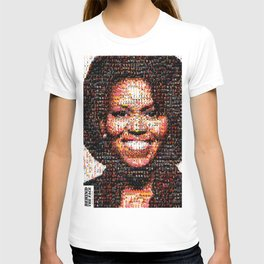 BEHIND THE FACE Michelle Obama | fat women T-shirt