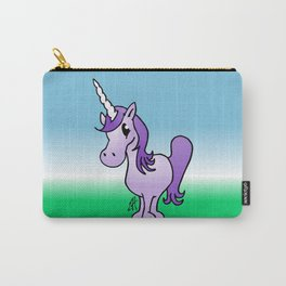 Purple Unicorn Carry-All Pouch