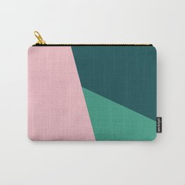 Geometric design in pink & green Carry-All Pouch