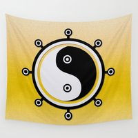 yin yang Wall Tapestries featuring Yin yang by Nir P