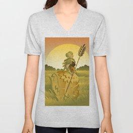 demeter ceres greek roman mythology goddess of agriculture on plantation Unisex V-Neck