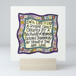 Quilt Quote I Mini Art Print