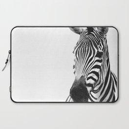 Black and white zebra illustration Laptop Sleeve