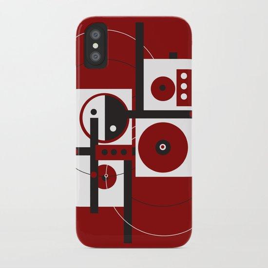 Geometric/Red-White-Black 2 iPhone Case