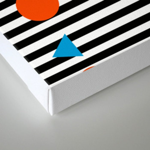 Yadda Yadda - memphis lines stripes dots triangles geometric abstract minimal print pattern wacka yo Canvas Print