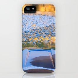 Beauty on Ice kayaking on McCloud Reservoir iPhone Case