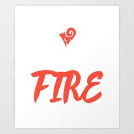 Zodiac   Aries   A Roaring Fire Art Print