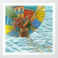 Over the Sky Art Print