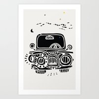 jeep Art Prints featuring Jeep by inktheboot