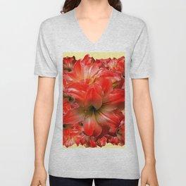 Amaryllis Floral abundance Unisex V-Neck