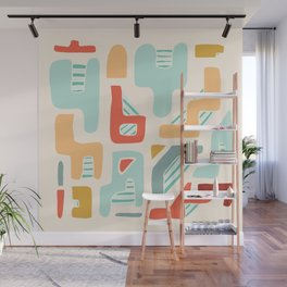 Water Reserve Abstract Illustration Wall Mural
