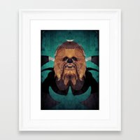 chewbacca Framed Art Prints featuring Chewbacca by lazylaves