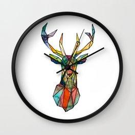 Colorful deer geometrical Wall Clock