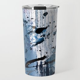 Breathe [6]: colorful abstract in black, blue, purple, gold and white Travel Mug
