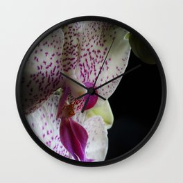 Shady Orchid Wall Clock