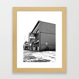 Corner pub Framed Art Print