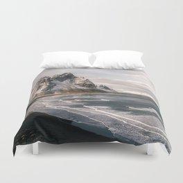 Stokksnes Icelandic Mountain Beach Sunset - Landscape Photography Duvet Cover