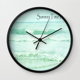 Seascape Green.. Wall Clock