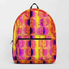 Cool Colorful Half-Moon Stripe Pattern Backpack