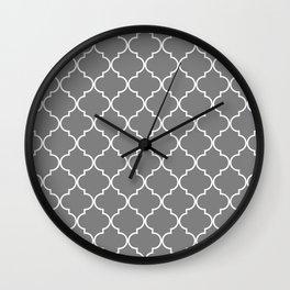 Quatrefoil - Gray Wall Clock