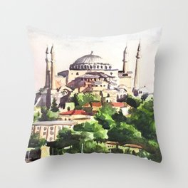 Istanbul Turkey Hagia Sophia Throw Pillow