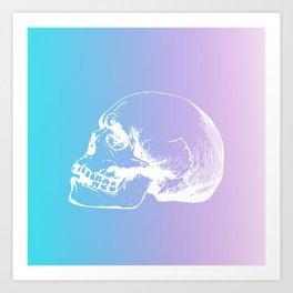 NeonSkull Art Print