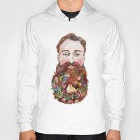 beard Hoodies featuring Beard by msbordrog