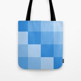 Four Shades of Light Blue Square Tote Bag