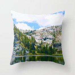 Desolation Wilderness Lake Reflection Throw Pillow