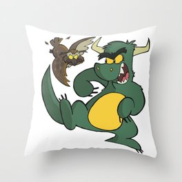 Avery Vs Dragon Throw Pillow