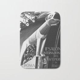 retro old 1929 Salone Internazionale dell Automobile poster Bath Mat