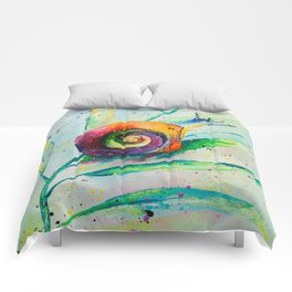 Snail Oilpainting Comforters