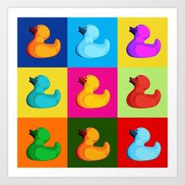 pop art duck Art Print