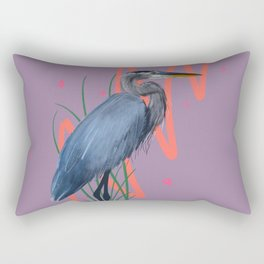Great blue on the Bayou Rectangular Pillow