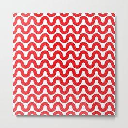 Wavy in Red Metal Print