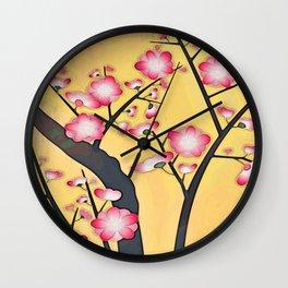 Yellow and Pink Wall Clock