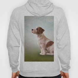 Jack Russell Terrier. Drawing, illustration funny dog Hoody