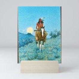 The Outlier by Frederic Sackrider Remington Mini Art Print