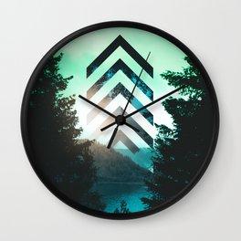 Geometric Forest Wall Clock