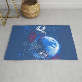 Winged Goat of the Cosmos Rug