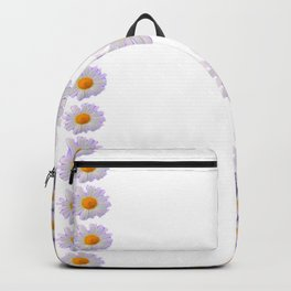 WHITE DAISIES & SPRING BUTTERFLIES & WHITE-GREY ART Backpack