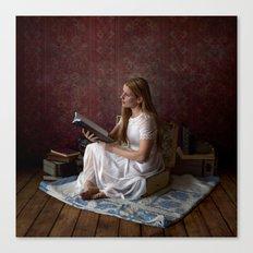 Reading Takes you Places - Book Lover's Fine Art Portrait Canvas Print