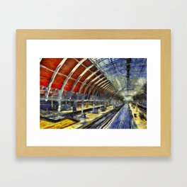 Paddington Railway Station Art Framed Art Print