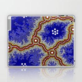 Aboriginal Art Authentic – Water Wetlands Laptop & iPad Skin